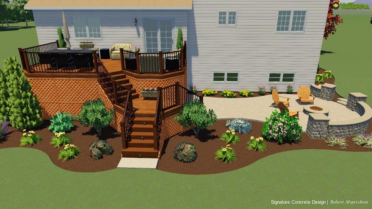 Backyard landscape design for Study landscape design