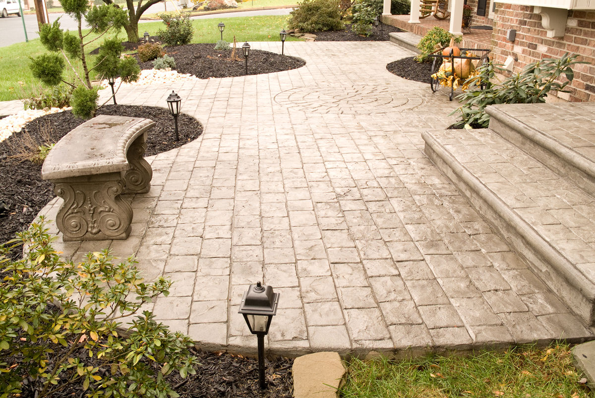4 beautiful stamped concrete patterns and where to use for Different patio designs