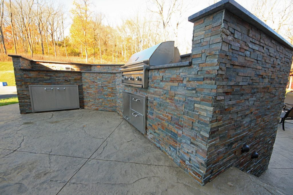 Beautiful masonry work on an outdoor kitchen