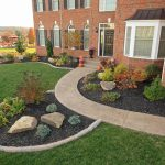 A front walkway design with landscaping