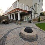 A backyard retreat with pavers